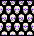 halloween seamless pattern with skulls vector image vector image