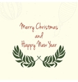 Hand drawn Christmas and New Year invitation card vector image vector image
