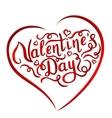 Happy Valentines Day handwritten lettering vector image vector image