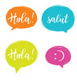 hello in different languages set vector image