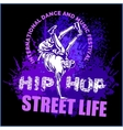 hip hop dancer on white background vector image vector image