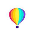 hot air travel balloon icon vector image vector image