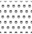 husky head dog seamless pattern vector image vector image