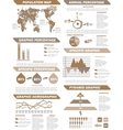 INFOGRAPHIC DEMOGRAPHIC ELEMENTS NEW BROWN vector image vector image