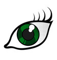 isolated eye icon vector image