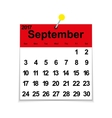 Leaf calendar 2017 with the month of September vector image vector image