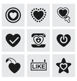 Like icon set vector image vector image