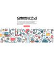microbiologist scientist research coronavirus cov vector image vector image
