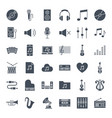 music solid web icons vector image vector image