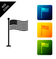 national flag usa on flagpole icon isolated vector image vector image