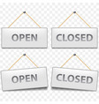 open closed signs isolated on white vector image vector image