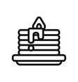 pancake icon vector image