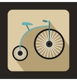 Penny-farthing icon flat style vector image vector image