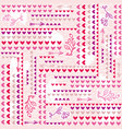 pink background with valentine heart vector image vector image