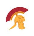 roman gold helmet with mohawk ancient galea vector image