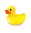 rubber duck isolated vector image vector image