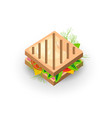 sandwich icon in cartoon style isolated vector image