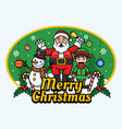 santa claus and friends vector image