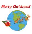 Santa riding sleigh cartoon vector image vector image