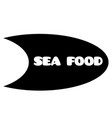 sea food stamp on white vector image