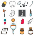 set of healthcare icon vector image