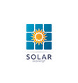 solar panel energy logo icon zero waste concept vector image