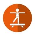 sportman artistic gymnastics shadow vector image