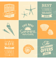 summer typographic design elements and icons vector image vector image