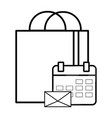 technology ecommerce shopping bag vector image vector image