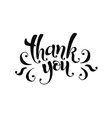 thank you ink vector image vector image