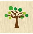 tree icon design vector image vector image