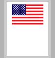 us flag patriotic border vector image vector image