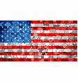 usa flag made of hearts background vector image vector image