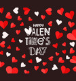 valentines day celebration card vector image