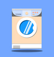 washing machine on blue background flat design vector image vector image