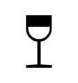 Wine glass icon Silhouette vector image vector image