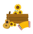 wooden sign cartoon vector image vector image