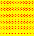 yellow and red pop-art polka dot background vector image