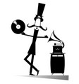 retro music lover vector image