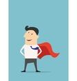 Cartoon businessman Super Hero vector image