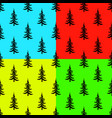 pine tree seamless pattern on colors backgrounds vector image