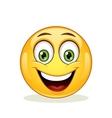 Emoticon with happy face vector image