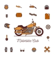 motorcycle icon vector image