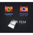 set of camera logos film icon vector image