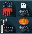 halloween party templates vector image