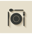 plate fork knife spoon icon vector image