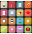 16 flat icons of health and medicine vector image vector image