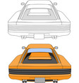 80s retro racing car vector image vector image