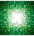 Abstract green triangle mosaic background design vector image vector image