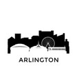 arlington texas city skyline negative space city vector image vector image